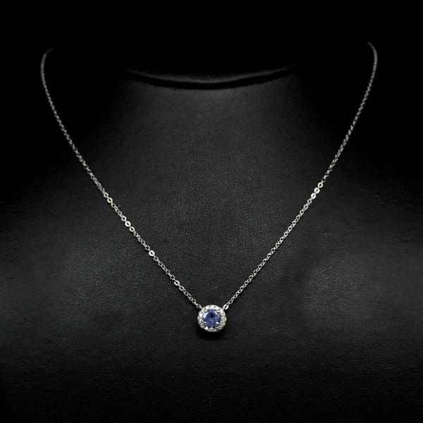 Beautiful Genuine Tanzanite Necklace.