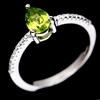 Delightful Genuine Peridot Solitaire Ring