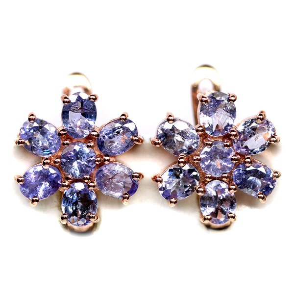 Gorgeous Genuine Tanzanite Earrings