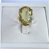 Elegant  11.0  Ct  Lemon Quartz Ring