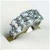 Elegant 925 Sterling Silver Natural  3.52  Ct  Blue & White Topaz Ring