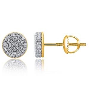 9ct Yellow Gold, 0.38ct Diamond Earrings