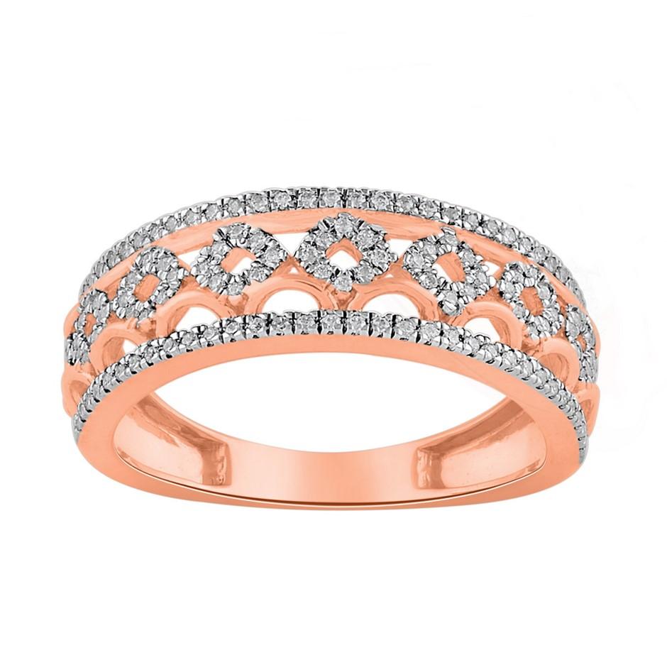 9ct Rose Gold, 0.22ct Diamond Ring