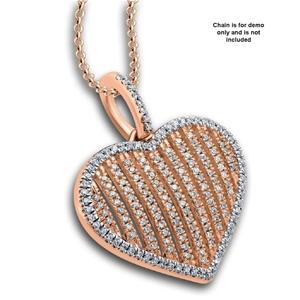 9ct Rose Gold, 0.28ct Diamond Pendant