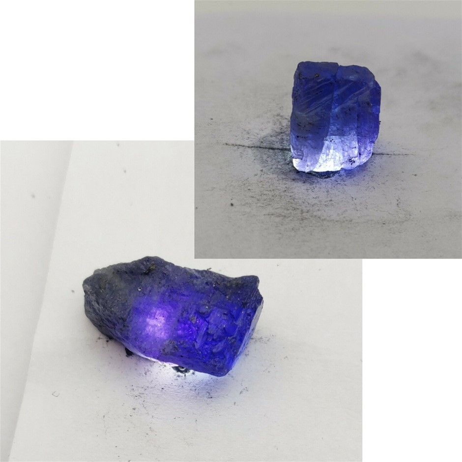 98ct (2) Tanzanite Raw Rough Loose Gemstone (s)