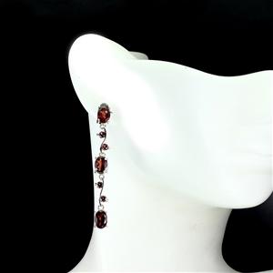 Glorious Genuine Garnet Drop Earrings