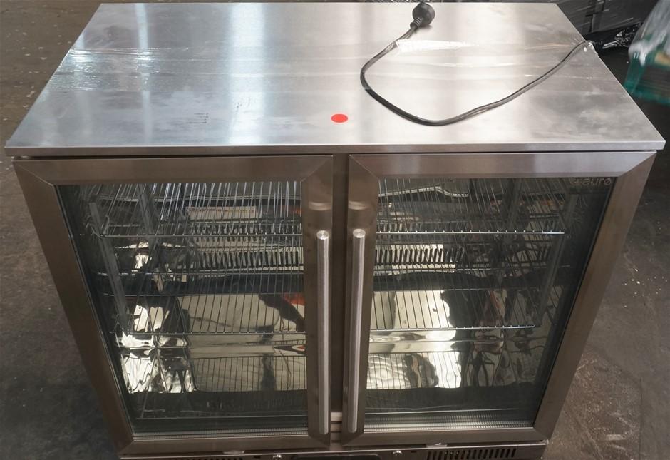 Euro Appliances EA900WFSX2 208L Double Door Stainless Steel Beverage Cooler
