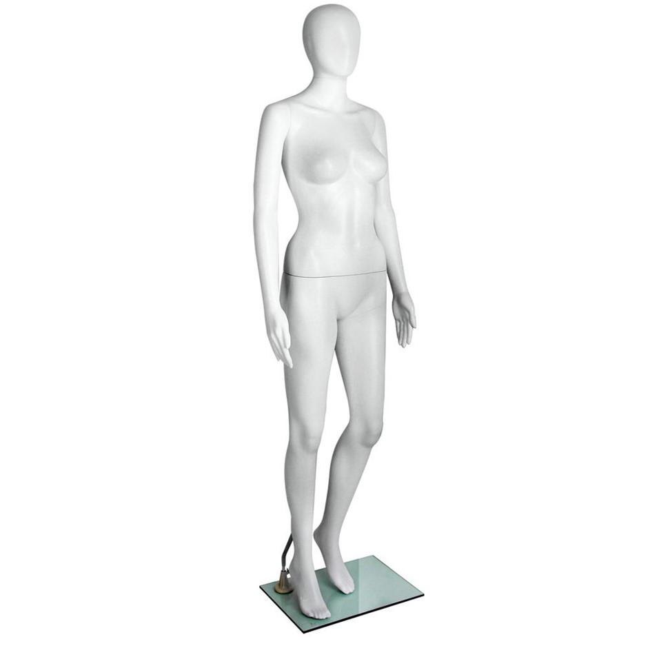 Full Body 175cm Female Mannequin Clothes Display Dressmaking Showcase White