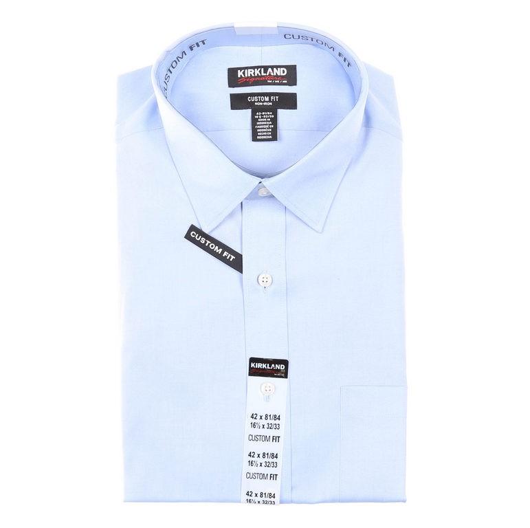 2 x SIGNATURE Men`s Cotton Dress Shirts, Size 42, Custom Fit, Long Sleeve,