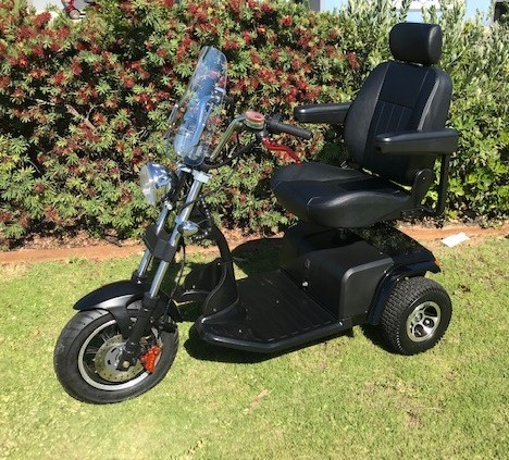 Unused Chopper Style Mobility Scooter