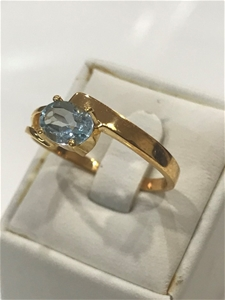Brilliant Blue Topaz & 18K Gold Vermeil