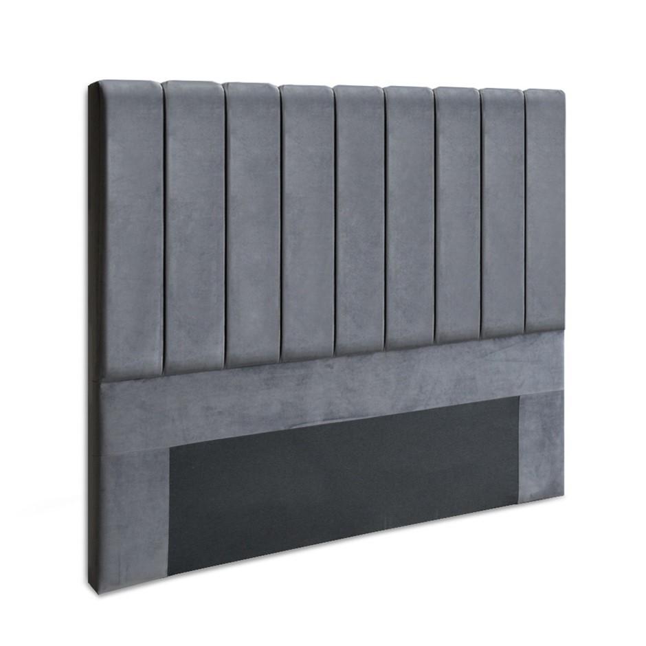 Artiss Double Size Bed Headboard Bedhead Bed Frame Base VELA Grey Fabric