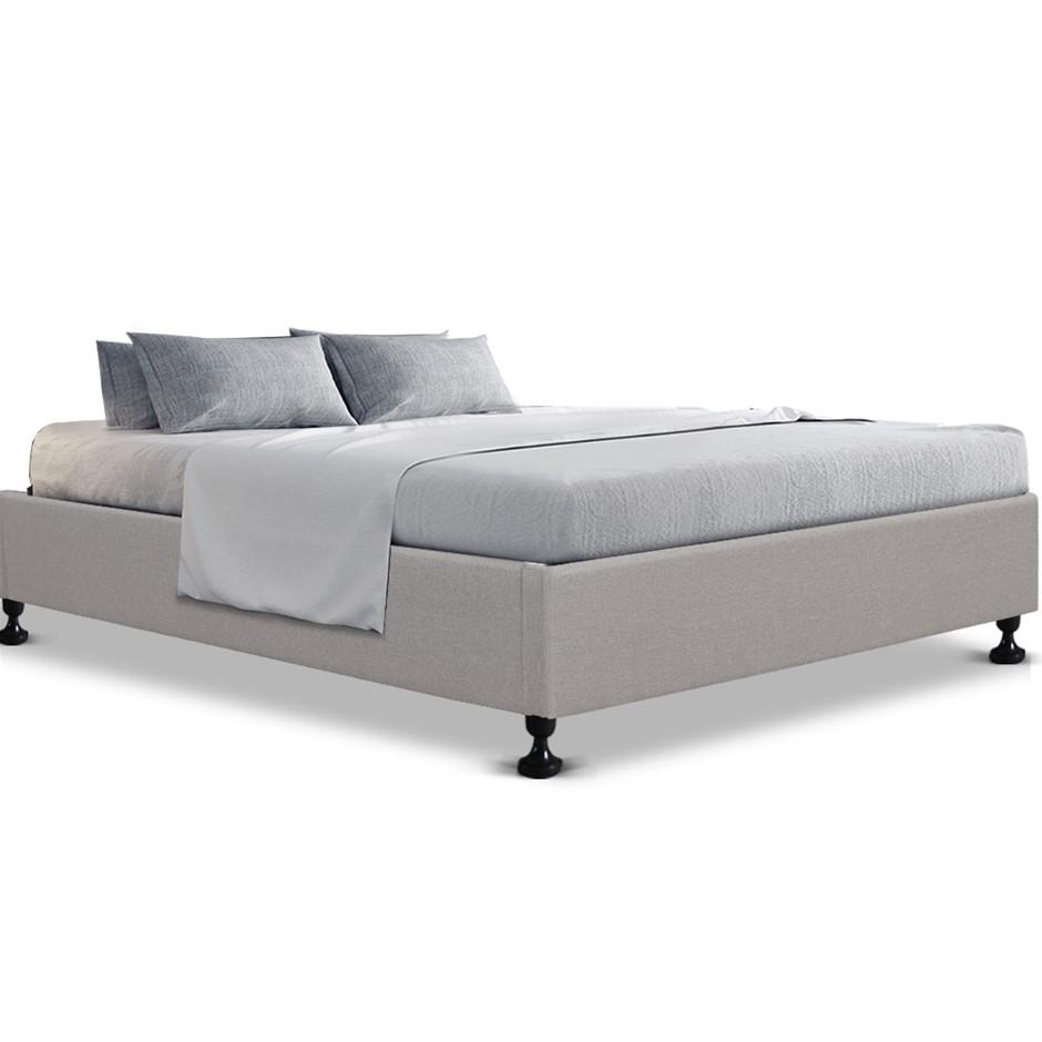 Artiss King Single Size Bed Base Frame Mattress Platform Fabric Wooden TOMI