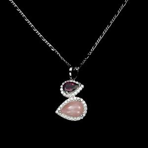Beautiful Genuine Pink Opal & Rhodolite