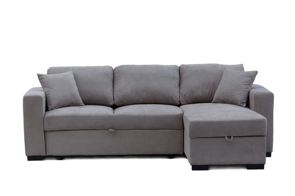 Eva 2.5 Seater Sofa Bed with Storage Chaise - Latte