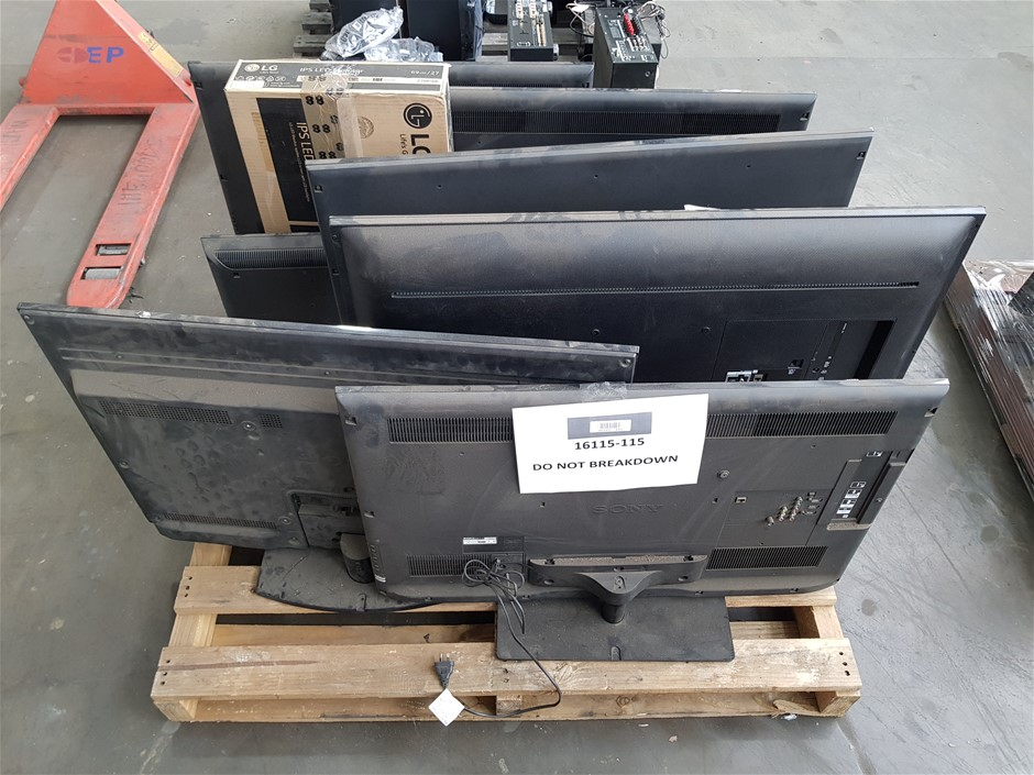 Pallet of Untested TV/Monitors