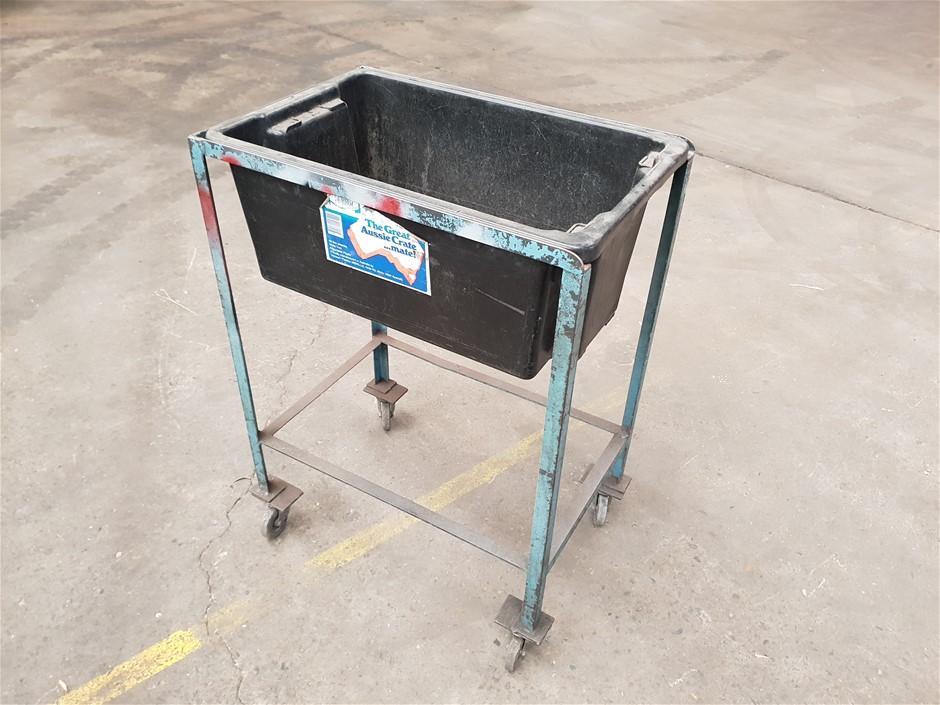 Plastic Bin Trolley including Black Plastic Bin