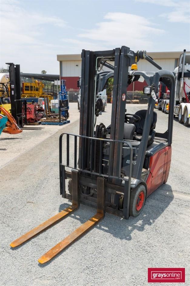 2006 1.6 Tonne Linde E16-01 3 Wheel Counter Balance Forklift