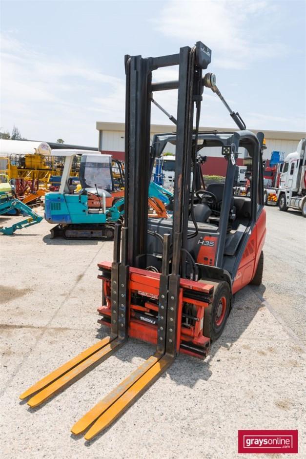 2012 3.5 Tonne Linde H35T-01 4 Wheel Counter Balance Forklift