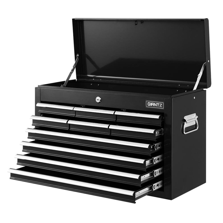 Giantz 10-Drawer Tool Box Chest Cabinet Garage Storage Toolbox - Black