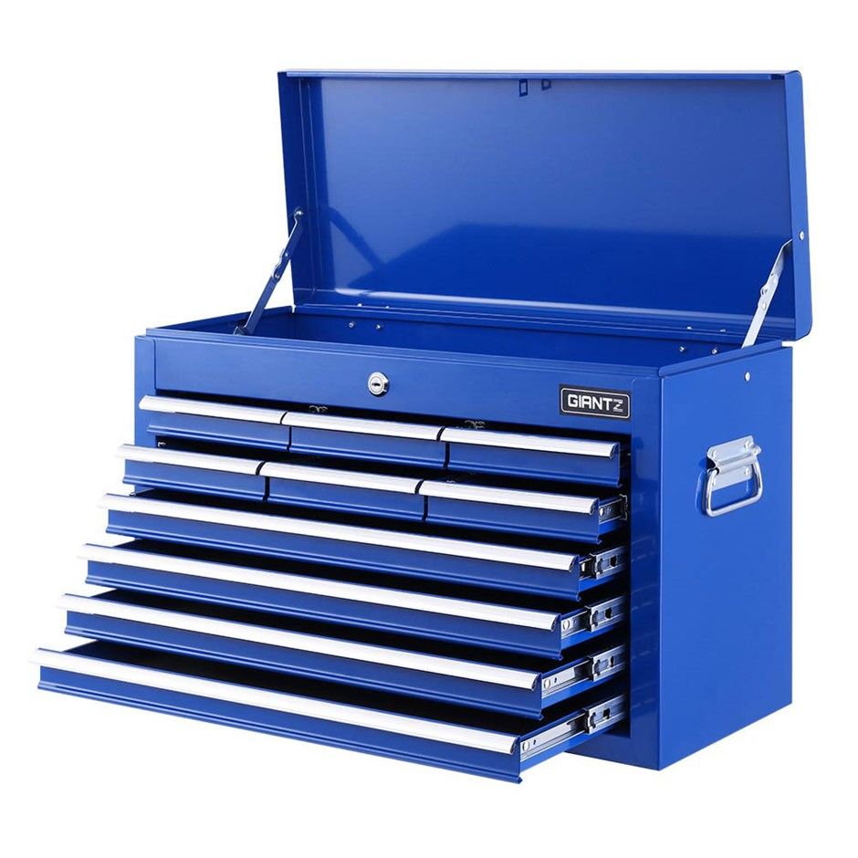 Giantz 10-Drawer Tool Box Chest Cabinet Garage Storage Toolbox - Blue
