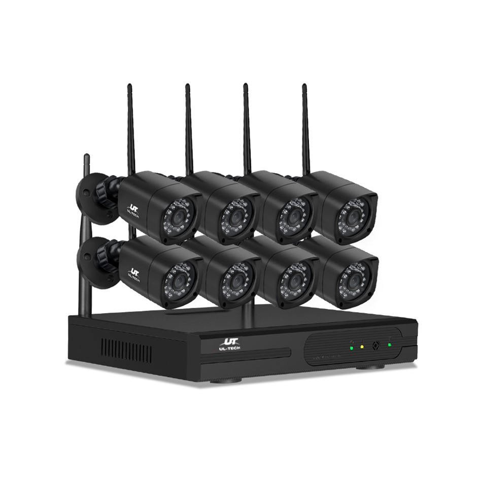 UL-tech CCTV Wireless Home Security Camera System Set IP WIFI 1080P 8CH