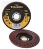 10 x TOLSEN Aluminium Oxide Flap Discs, 125 x 22.2mm, Grit 40, Fibre Backin