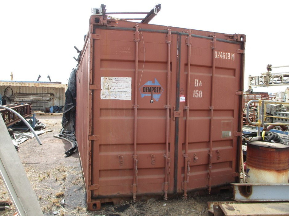 20 Foot Open Top Shipping Container with Contents