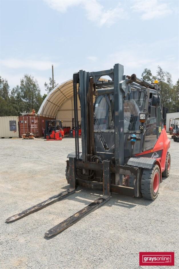 2008 6 Tonne Linde H60D 4 Wheel Counter Balance Forklift