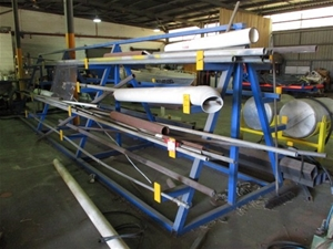 Fabricated Steel Storage Rack and Conten