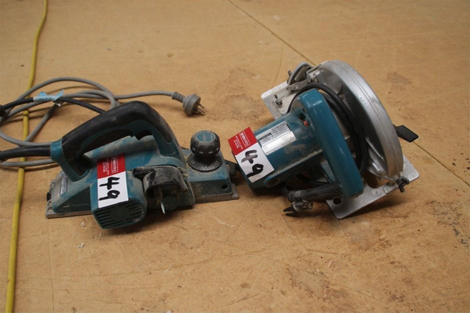 2x Assorted Makita Electric Power Hand tool