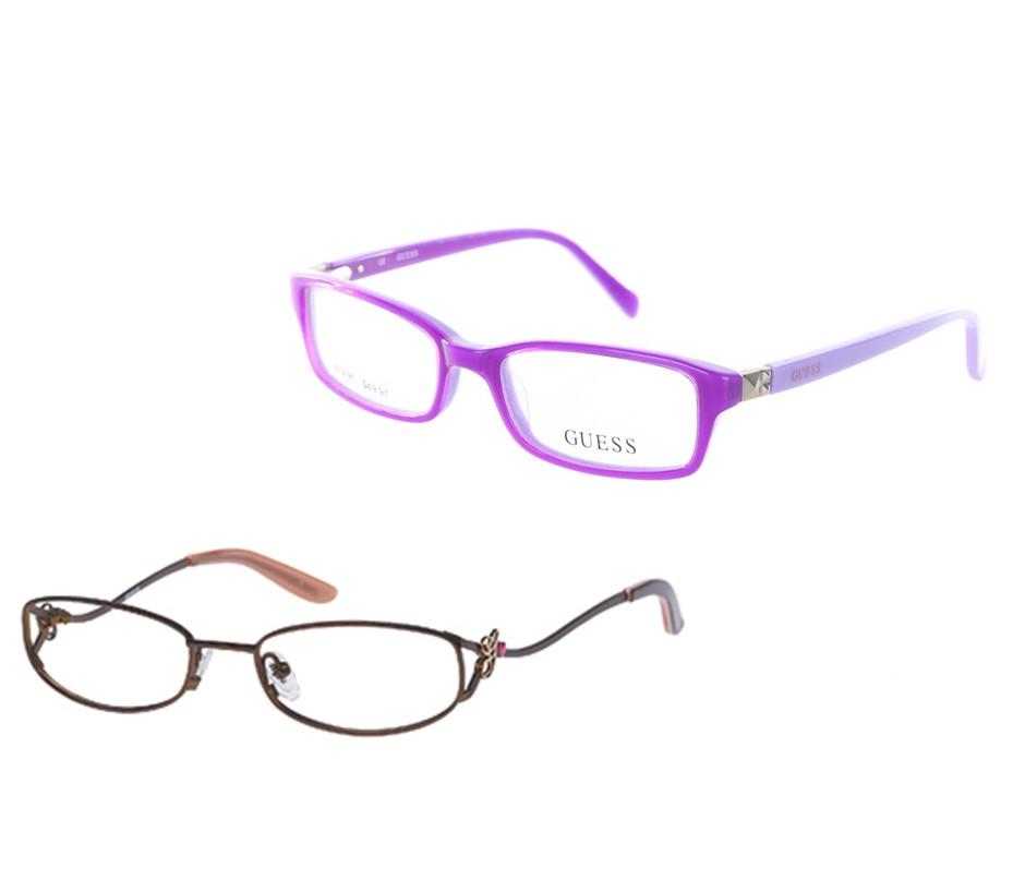 GUESS GU 9031 Girl's Eyeglasses, Satin Purple & GUESS GU 9133 Girl's Eyegla