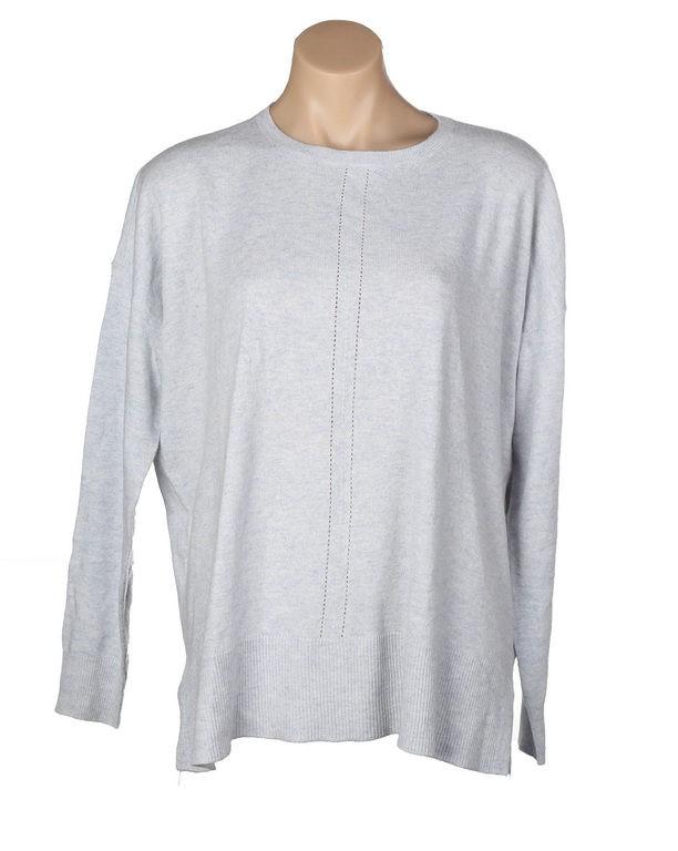 Women`s JAG Step Hem Knit, Size M, Viscose/Nylon/ Cotton/Cashmere, Vapour.