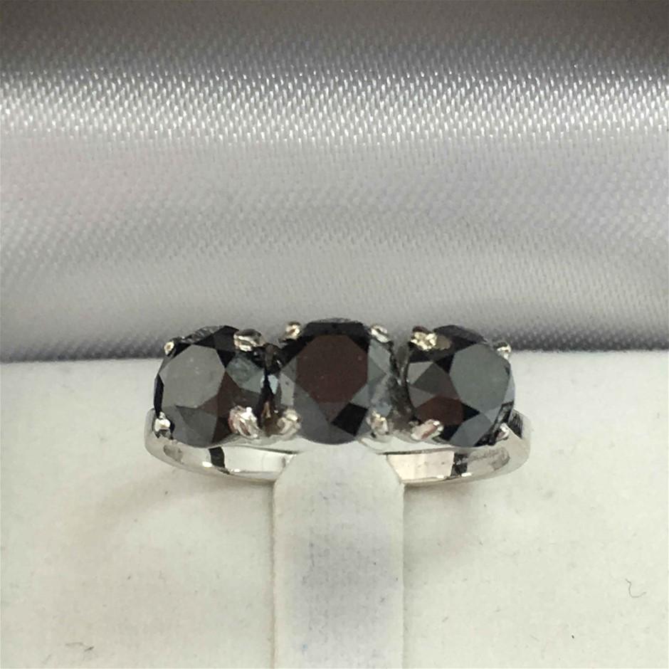 18ct White Gold, 3.20ct Diamond Ring