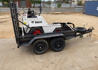 Bobcat Trencher and Trailer