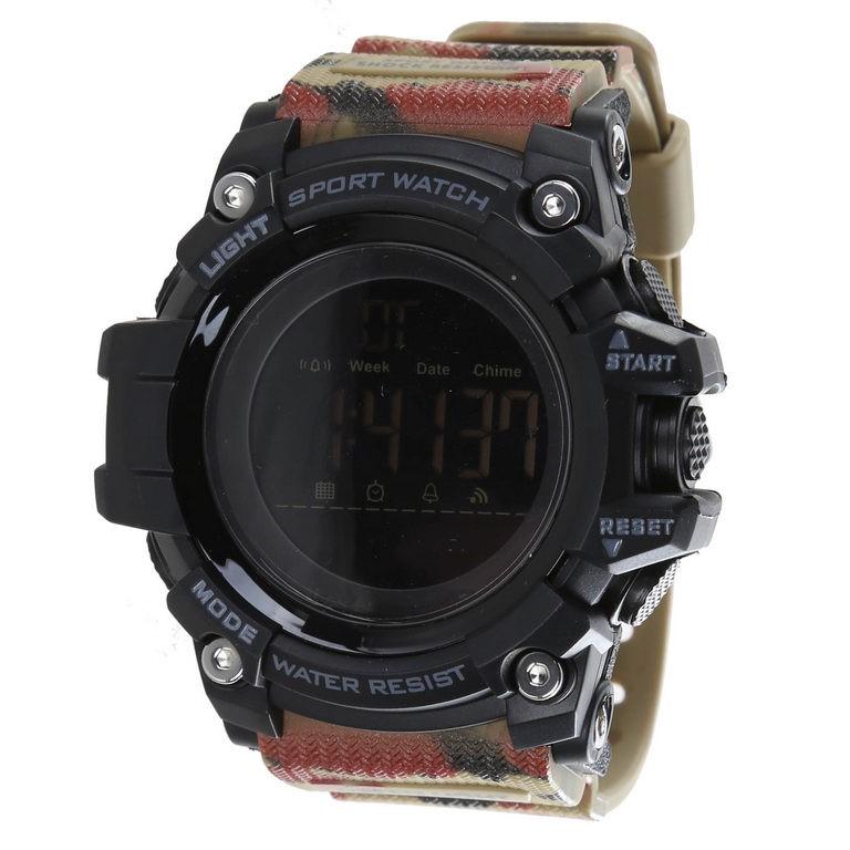 SKMEI Men`s Digital Sports Wrist Watch, PU Band, 54mm Dial Width, Water Res
