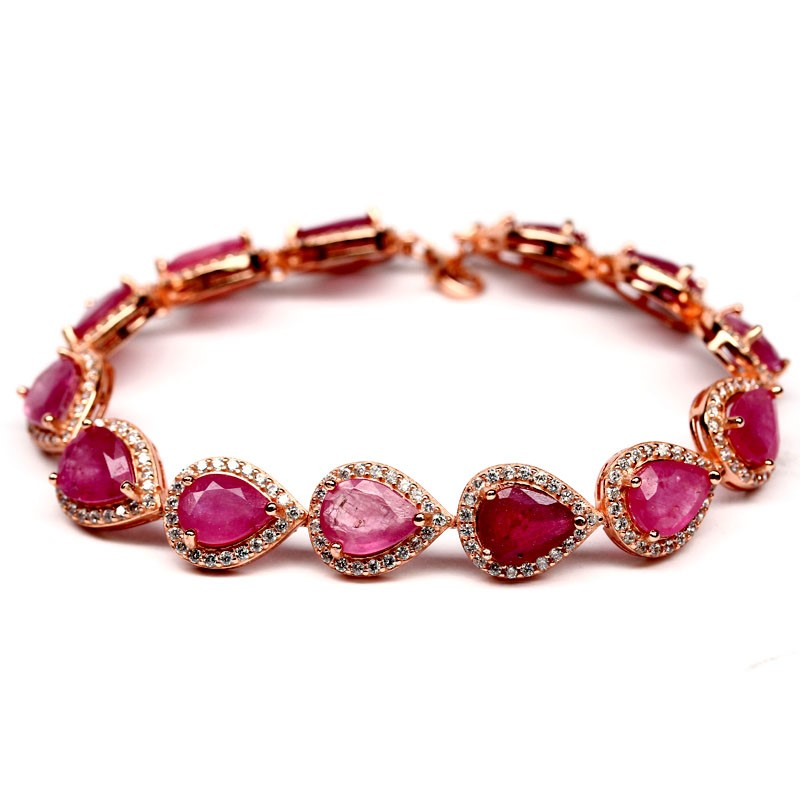 Spectacular Genuine Ruby Tennis Bracelet.