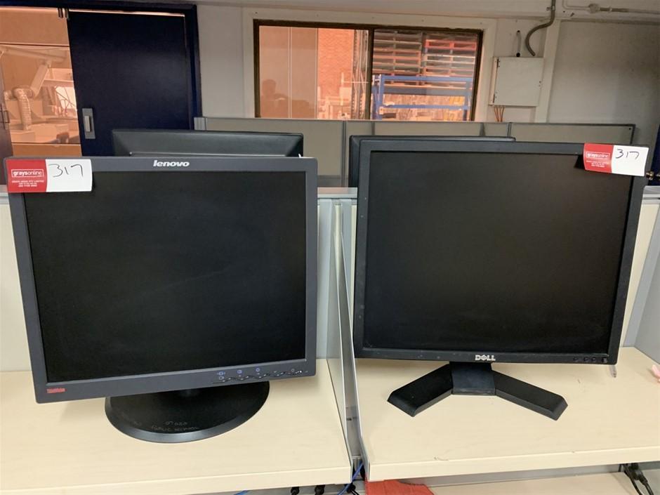 2x PC Monitors, Lenovo and DELL