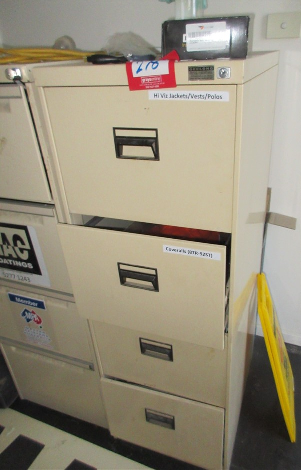 1x 4 Drawer Filing Cabinets