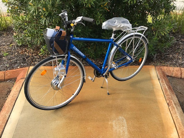 EMS Sunrunner Electric Pedal Assist Bikes in Blue
