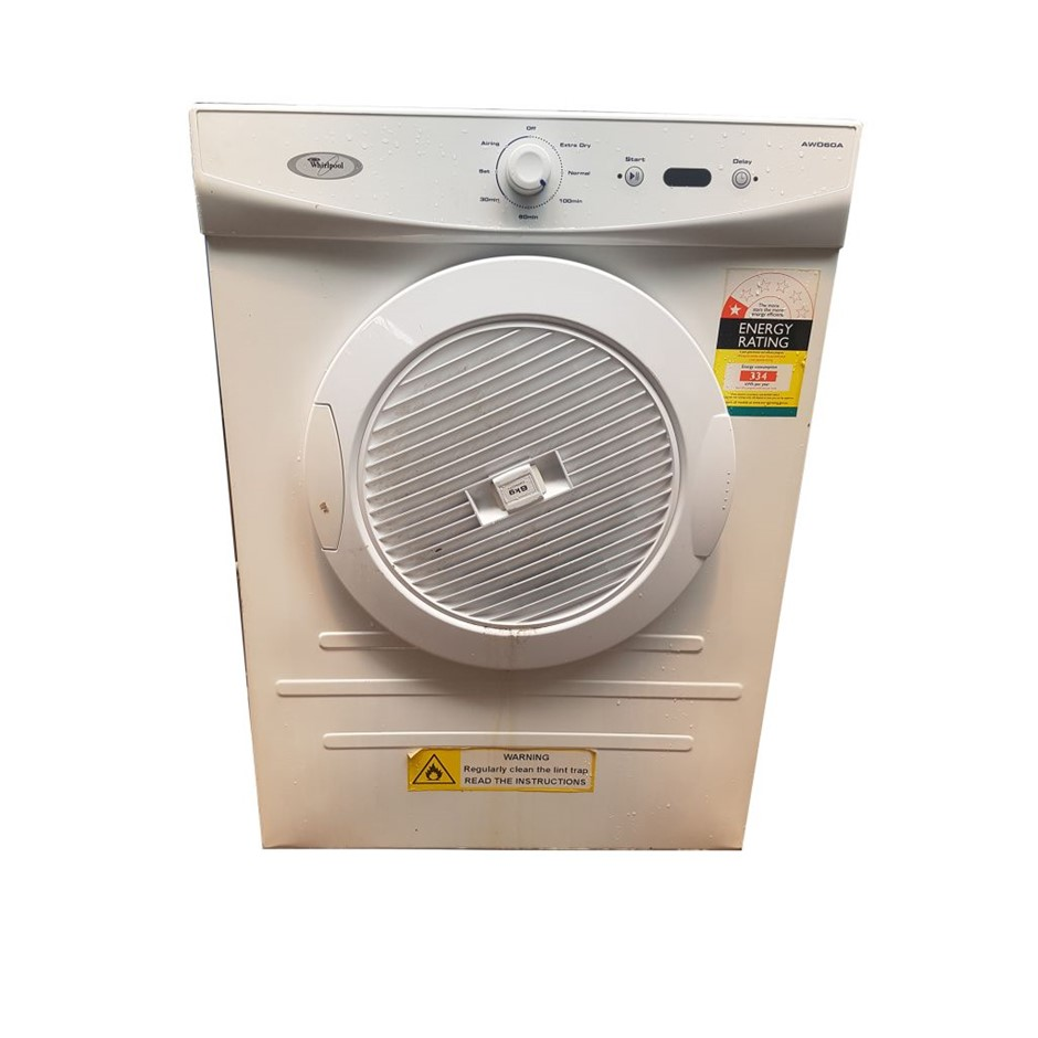 WHIRLPOOL AW080A 6KG DRYER SCREEN DISPLAY (268165-14)