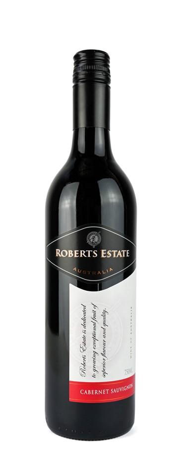 Roberts Estate Cabernet Sauvignon 2018 (12 x 750mL) SEA