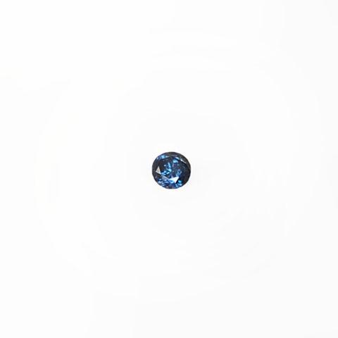 0.18ct Round brilliant cut blue diamond