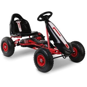 Rigo Kids Pedal Powered Go Kart - Red