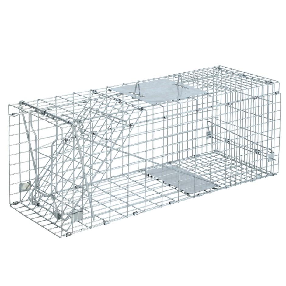 Set of 2 Trap Humane Possum Cage Live Animal Safe Catch Rabbit Cat Hare Fox