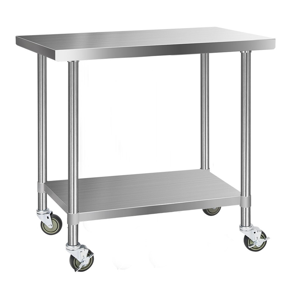 Cefito 1219x610mm Commercial 304 Stainless Steel Bench