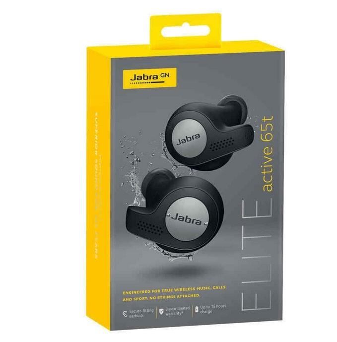 JABRA Elite Active 65t Bluetooth Earphones Titanium Black. N.B. Has had som
