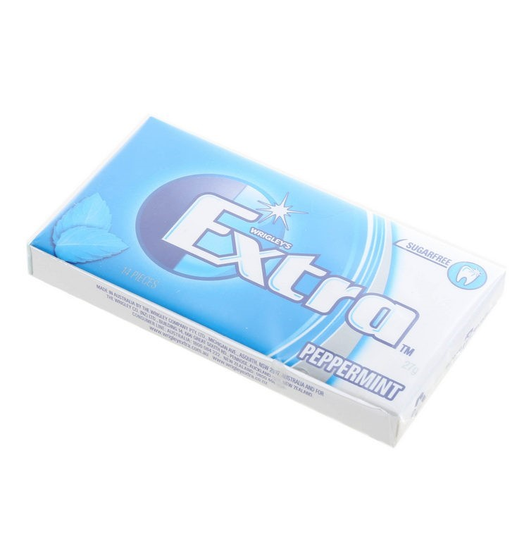 24 Packs of 14 x WRIGLEY`S Extra Sugar Free Gum, Peppermint. Buyers Note -
