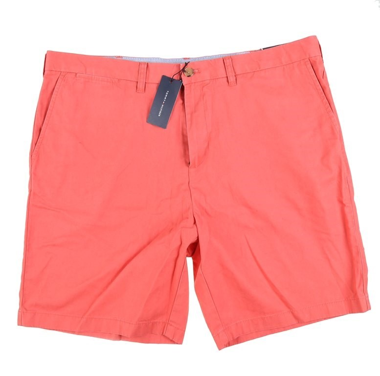 Pair Men`s TOMMY HILFIGER Shorts 9ins, Size 40, Cotton, Spiced Coral. Buyer