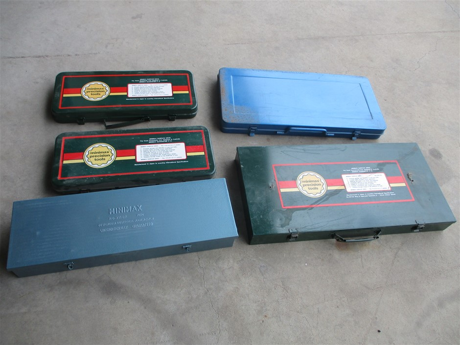 5x Assorted MINIMAX Toolboxes only (used)